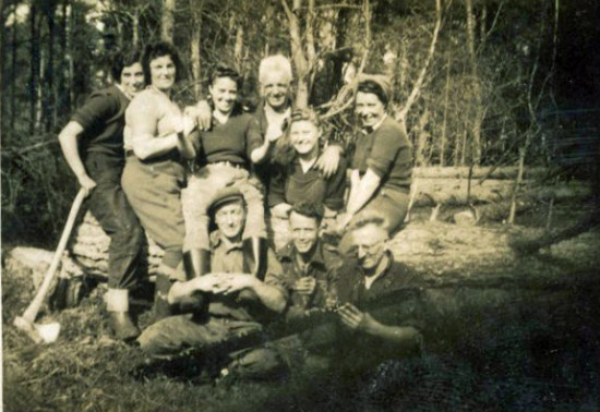 Image of female foresters, part of the Women's Timber Core
