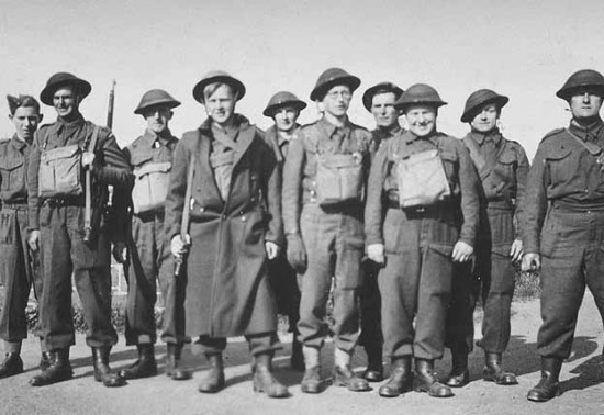 Photo of group of World War II soldiers posing for camera