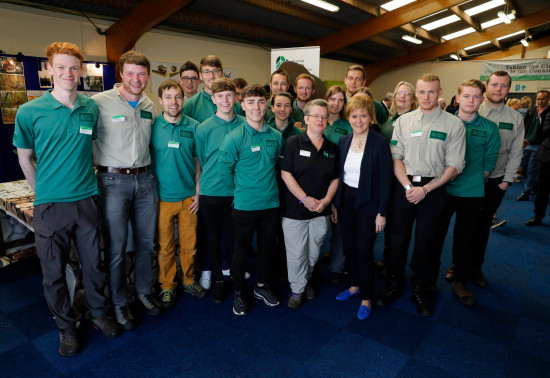 Image of young foresters with First Minister Nicola Sturgeon