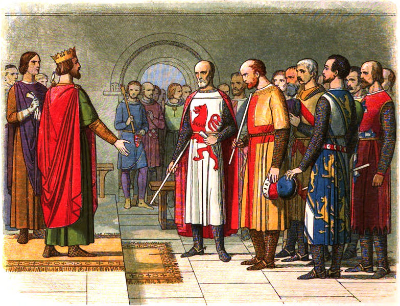 King Henry III and his parliament (illustration)
