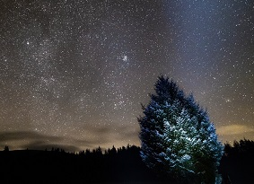 The night sky at Kirroughtree
