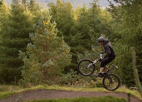 Mountain biker at Glentress