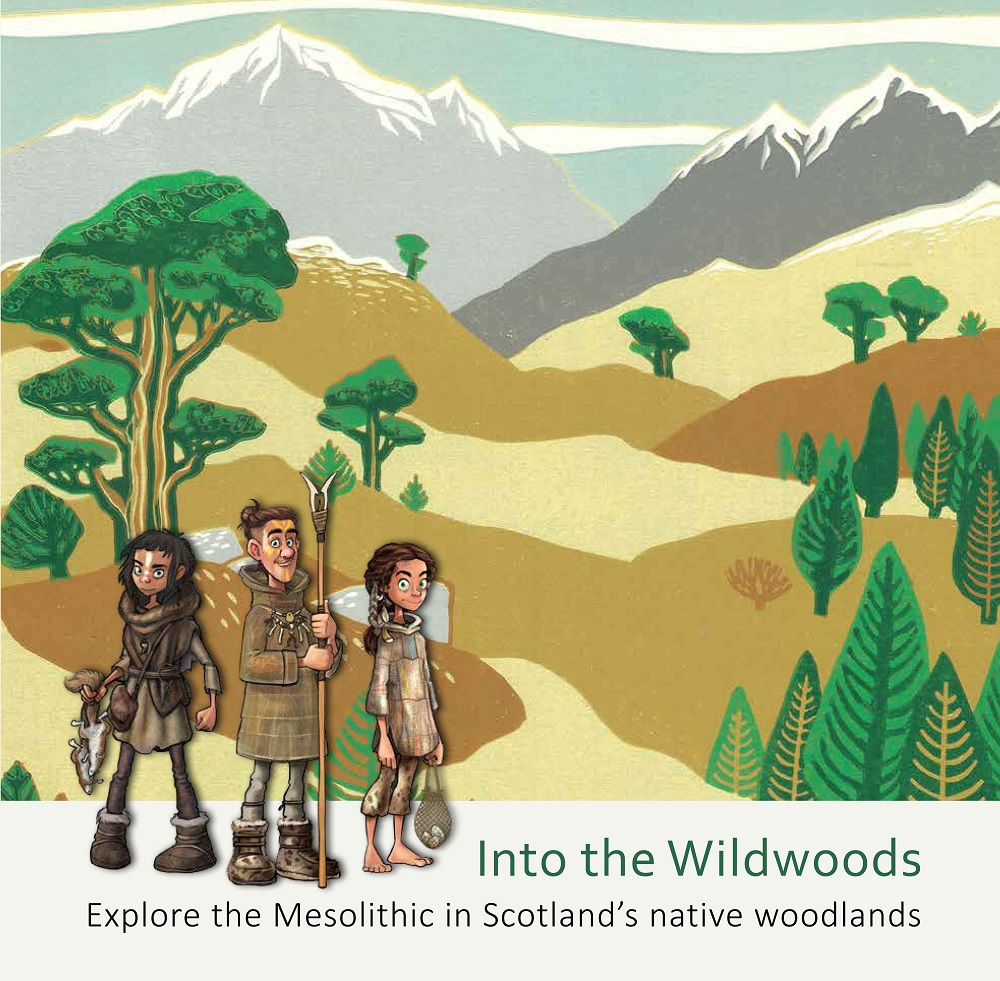 Into the Wildwoods front cover, illustrated with cartoon figures