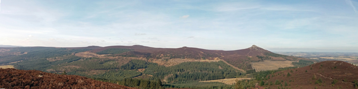 View of Bennachie from Millstone Hill