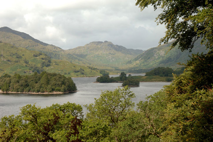 Hills and trees at Loch Katrine