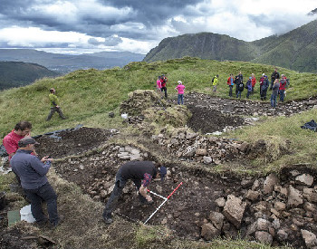 Archaeological dig at Dun Deardail