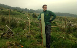 Greg Ferrier standing on a forest planting site