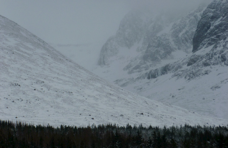 Snow-covered North Face of Ben Nevis