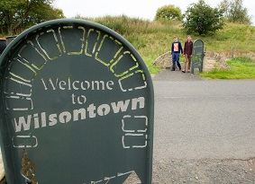 A sign reading 'Welcom to Wilsontown'