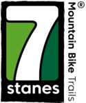 "The 7Stanes logo. including the text ""Mountain bike trails"""