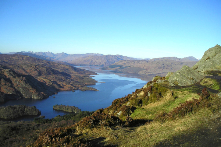 view over trossachs from ben aan