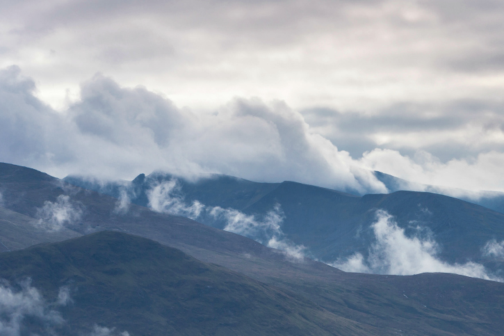 Clouds over north face at Ben Nevis