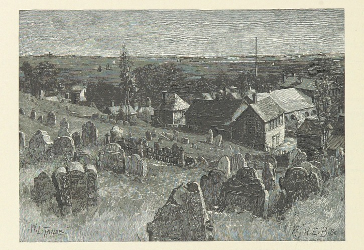 hand drawn image of graveyard